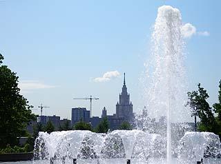 191 Фонтан и МГУ   Fountain  and University of Moscow. 125k