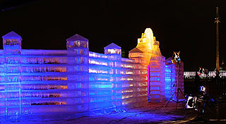 571 Ледяная скульптура.   Ice sculpture.  135k