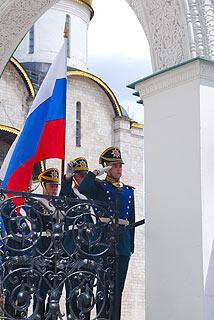a246 Развод пеших и конных караулов на Соборной площади Кремля.     82k